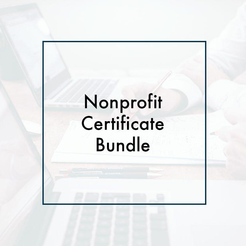 Nonprofit Certificate Bundle Csea Institute